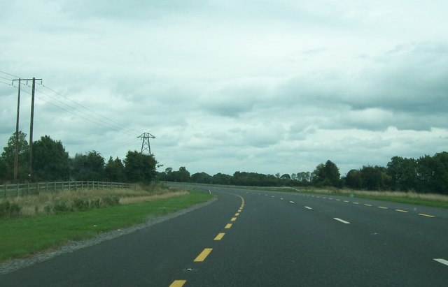 Powerlines crossing the N52 Tullamore Bypass