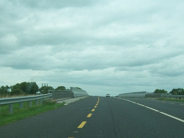 The Tullamore Bypass bridge over the Dublin-Galway and Westport railway line
