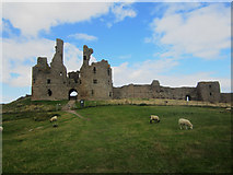 NU2521 : The entrance to Dunstanburgh Castle by Graham Robson