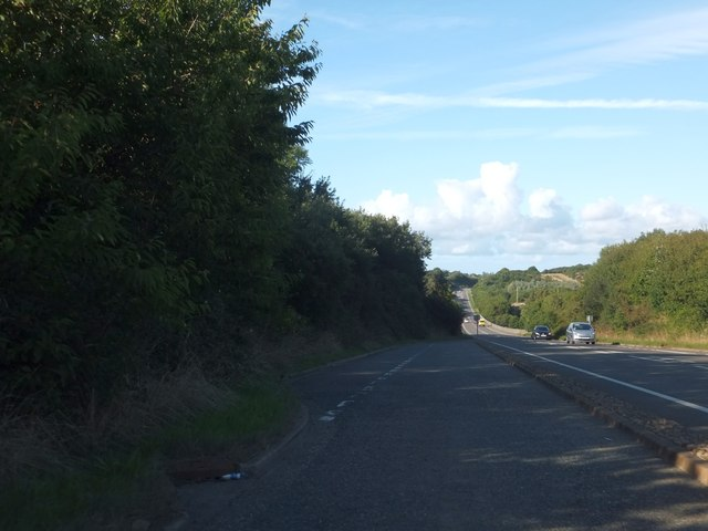 Lay-by eastbound on A39 on Badgers Hill