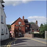 SJ9214 : Cannock Road and The Boat in Penkridge, Staffordshire by Roger  Kidd