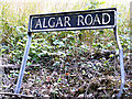 TM0783 : Algar Road sign by Adrian Cable