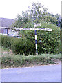 TM0986 : Roadsign on the B1077 Short Green by Adrian Cable