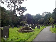 SK1134 : Stepped Cross in Doveridge Churchyard. by Jonathan Clitheroe