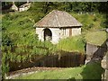 NU0702 : Old stone and shingle boat house, Cragside by Stanley Howe