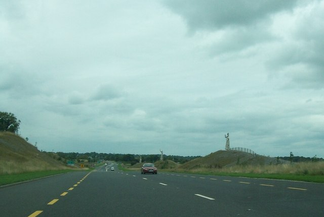 Metal figures alongside the Tullamore Bypass