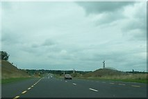 N3427 : Metal figures alongside the Tullamore Bypass by Eric Jones