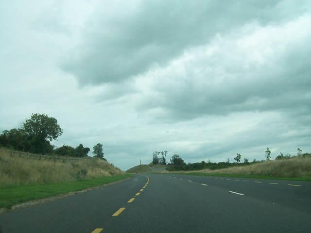 The N52 Tullamore Bypass cutting through an esker