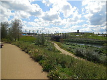 TQ3785 : Parkland by River Lea by Paul Gillett