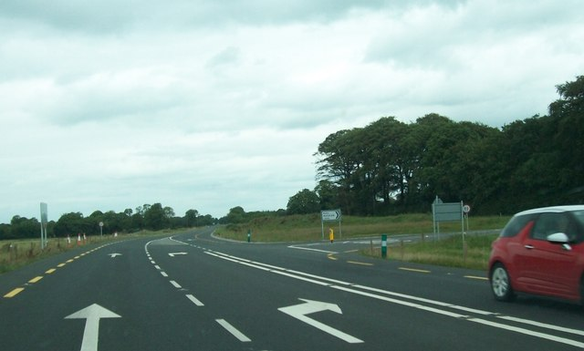Road junction on the N52 at Calverstown