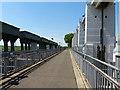 TF6017 : Fen Rivers Way crossing Tail Sluice by Mat Fascione