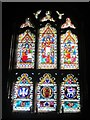 NU2229 : East window, Church of St Ebba, Beadnell by Graham Robson