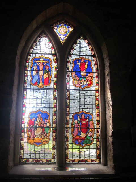 Stained glass window on south side of Church of St Ebba, Beadnell (3)