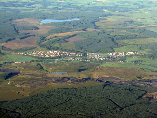 Patna from above East Ayrshire