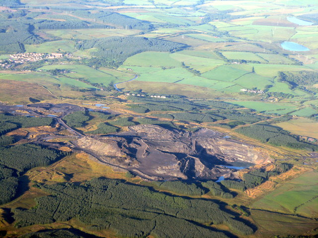 Disused opencast mine at Polnessan