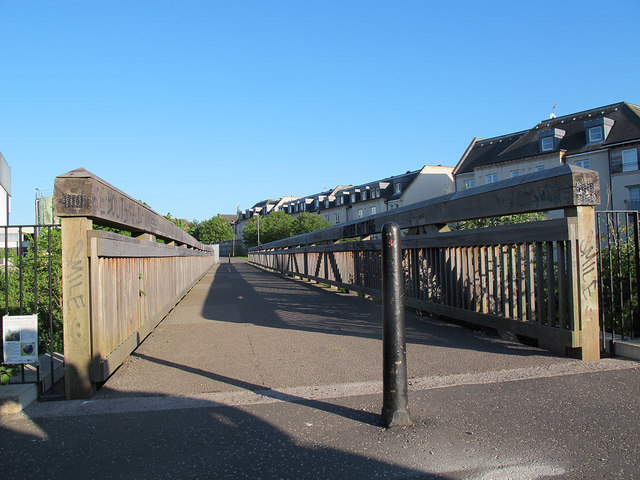Footbridge to Broughton Road by Stephen Craven