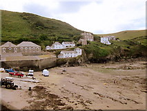 SW9980 : Port Isaac Harbour at Low Tide by Roy Hughes