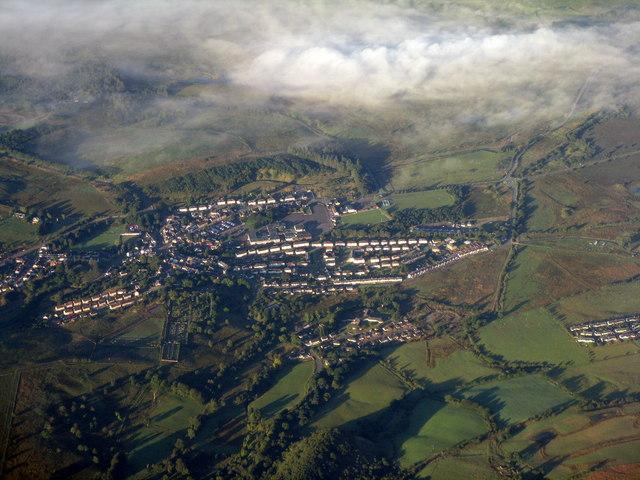 Dalmellington from the air