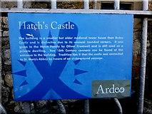 N9690 : Information board, Hatch's Castle by Kenneth  Allen