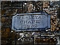 N9690 : Plaque, Wesleyan Chapel 1852 by Kenneth  Allen