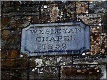 N9690 : Plaque, Wesleyan Chapel 1852 by Kenneth  Allen