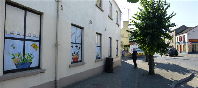 Decorated panels along Castle Street, Ardee