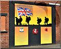J3773 : 36th (Ulster) Division mural, Orangefield, Belfast by Albert Bridge