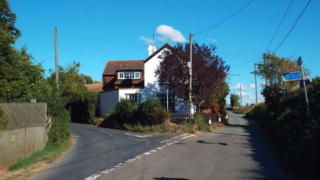 Road junction in Higham