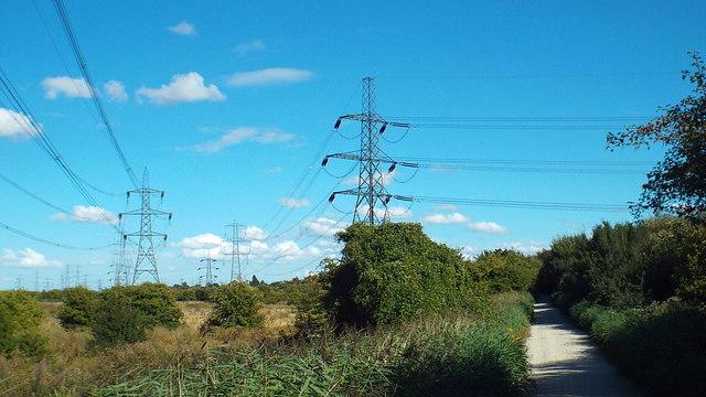 Pylons on Shorne Marshes