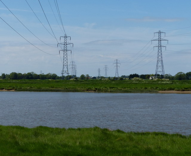 Electricity pylons near the River Great Ouse