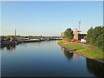 SK5838 : View from Trent Bridge on a September evening by John Sutton
