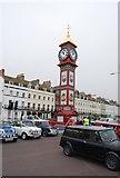 SY6879 : Jubilee Memorial Clock & Mini cars by N Chadwick