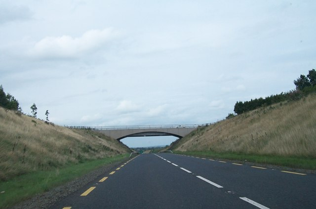 The N52 approaching the over head bridge carrying the R163 (Oldcastle Road)