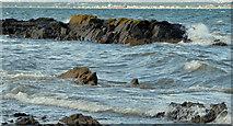 J4482 : Rocks and waves, Helen's Bay (1) by Albert Bridge