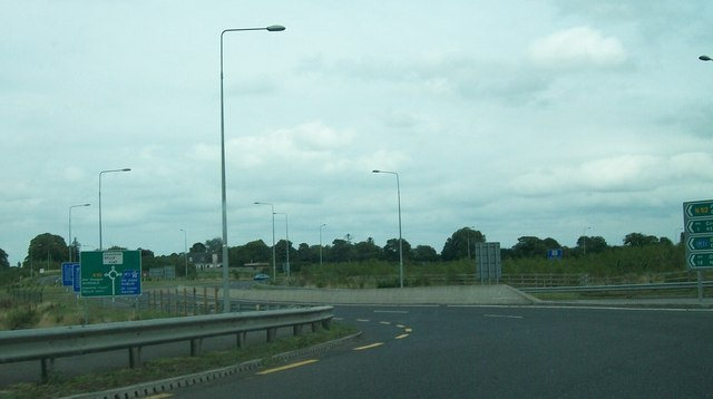 The N52/M3 Roundabout at Cloverhill