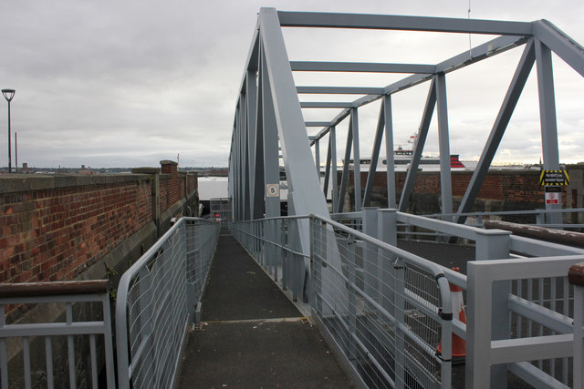 Boarding ramp for Manx ferry