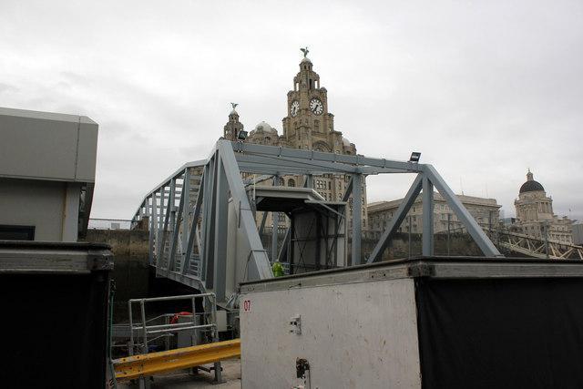 Manx ferry boarding ramp