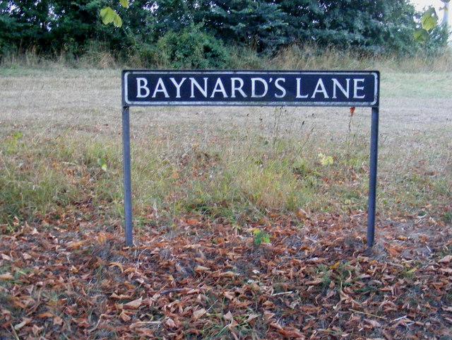 Baynard's Lane sign