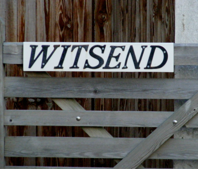 Witsend sign