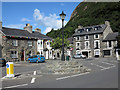 SH5640 : Houses at road junction in Tremadog by Trevor Littlewood