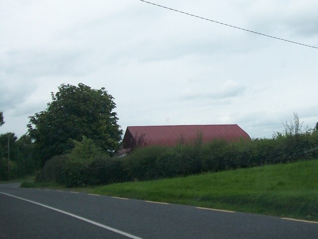 Modern farm shed alongside the R164 at Dulane