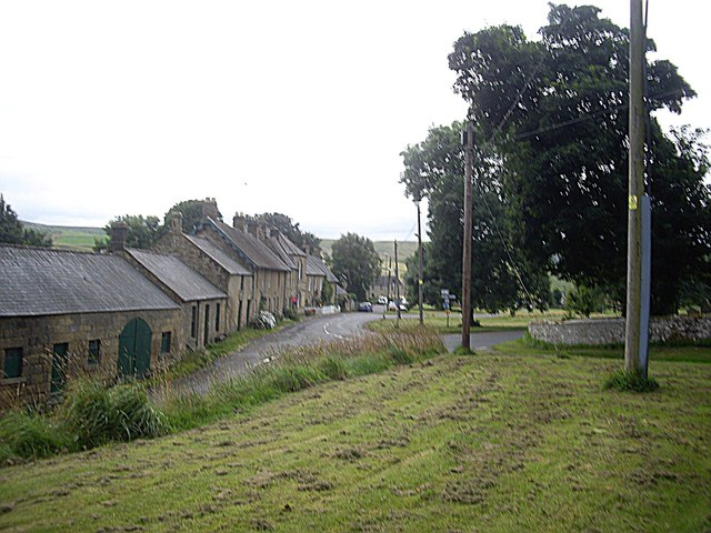 A street of houses in Elsdon village