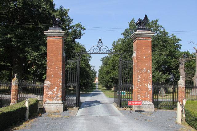 Helmingham Hall gates
