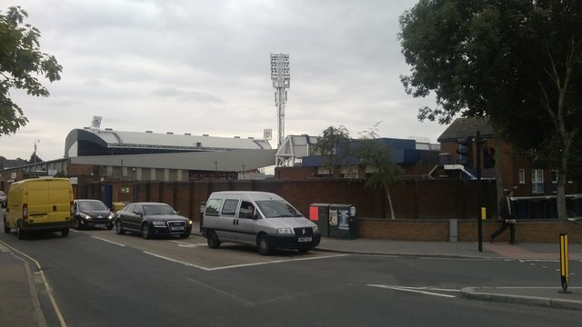 Selhurst Park (Crystal Palace FC) from the corner of Park Road