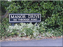 TM1080 : Manor Drive sign by Adrian Cable