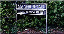TM1080 : Manor Road sign by Adrian Cable