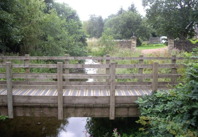 Footbridge over the Elsdon Burn