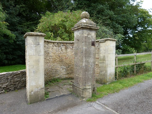 Gate post and wicket semicircle