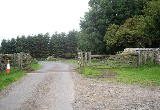 Exit west from Monkridge farmstead