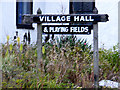 TM0881 : Bressingham Village Hall sign by Adrian Cable